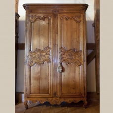 Country French Armoire - Antique